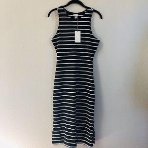 *NWT* a new day Striped Tank Midi Dress
